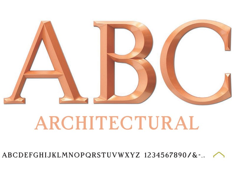 architectural plastic minnesota sign letters